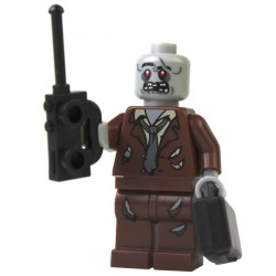 Zombie, Reddish Brown Suit with Briefcase and Radio