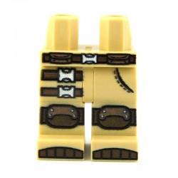 Lego Custom Minifig Jambes, Combat Pants (Tan) (La Petite Brique)