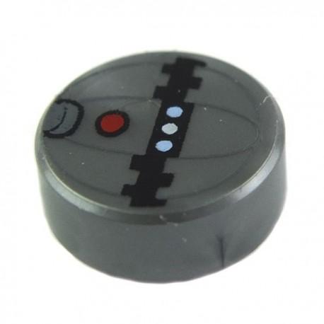 Lego Accessoires Tile, Round 1 x 1 with Thermal Detonator Pattern (La Petite Brique)