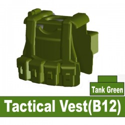 Lego Custom Si-Dan - Tactical Vest B12 (tank green) La Petite Brique
