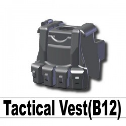 Lego Custom Si-Dan - Tactical Vest B12 (Iron Black) La Petite Brique