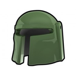 Lego Minifig Custom AREALIGHT Mando Helmet (Sand Green) (La Petite Brique) Star Wars