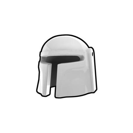 Lego Minifig Custom AREALIGHT Mando Helmet (Blanc) (La Petite Brique) Star Wars