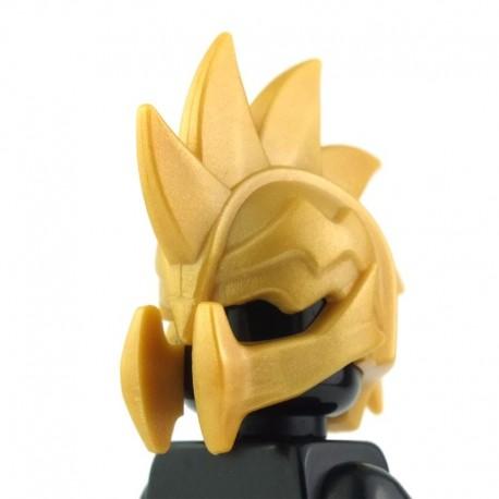 LEGO Brick Warriors Custom - Casque Demon (Pearl Gold) (La Petite Brique)