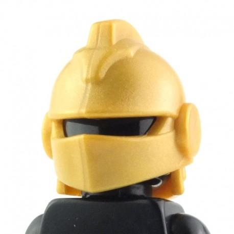 LEGO Brick Warriors Custom - Casque de Joute (Pearl Gold) (La Petite Brique)