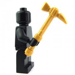 Lego Custom BRICK WARRIORS Hammerpick (Pearl Gold) La Petite Brique