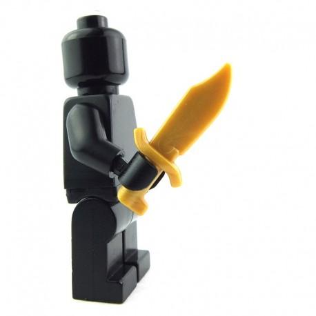 Lego Custom BRICK WARRIORS Couteau de Bowie (Pearl Gold) La Petite Brique