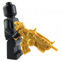 Lego Custom BRICK WARRIORS Fusil d'attaque Ground Dweller (Pearl Gold) La Petite Brique