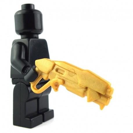 Lego Custom BRICK WARRIORS Grinder Shotgun (Pearl Gold) La Petite Brique