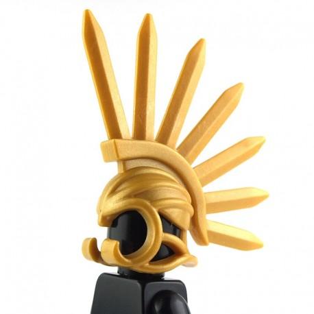"""Lego Custom BRICK WARRIORS Casque """"Bladed"""" (Pearl Gold) La Petite Brique"""