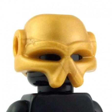 Lego Custom BRICK WARRIORS Casque Envahisseur (Pearl Gold) La Petite Brique