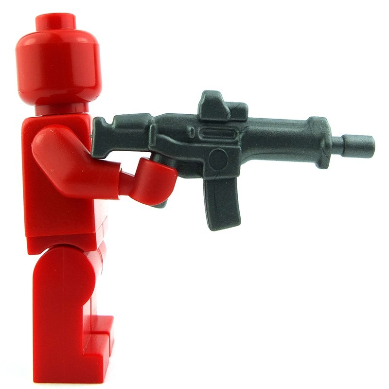 LEGO Canon Weapon Shooting Minifig w// Red Base Pearl Dark Gray