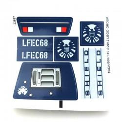 Lego Accessoires Autocollant Jeep de Hawkeye (La Petite Brique)