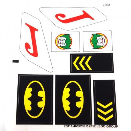 Lego Accessoires Autocollant Joker & Batman (La Petite Brique)