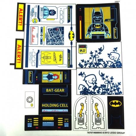Lego Accessoires Autocollant Batcave (La Petite Brique)