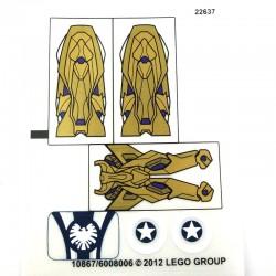 Lego Accessoires Autocollant Captain America / Alien (La Petite Brique)