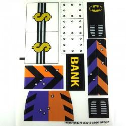 Lego Accessoires Autocollant Bank Batman Double Face (La Petite Brique)