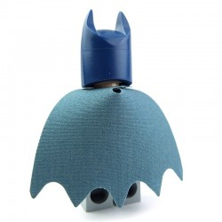 """Bat blue"" Bat Cape"