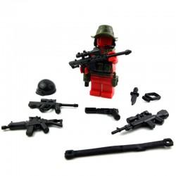 Lego Si-Dan Toys Jungle Sniper Pack (16 pièces) (Noir & Tank Green) (La Petite Brique)