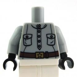 Lego Accessoires Torse - Militaire (Light Bluish Gray) La Petite Brique