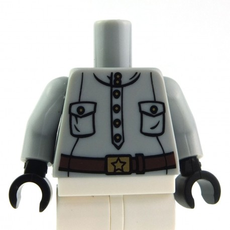 LEGO NEW MINIFIGURE LIGHT BLUISH GREY FIGURE SHORT BEARD PIECE