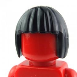 Black Minifig, Headgear Hair Short, Bob Cut