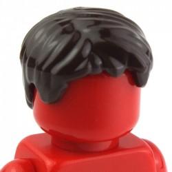 Lego Accessoires Minifig Cheveux court, ébouriffé (marron foncé) (La Petite Brique)