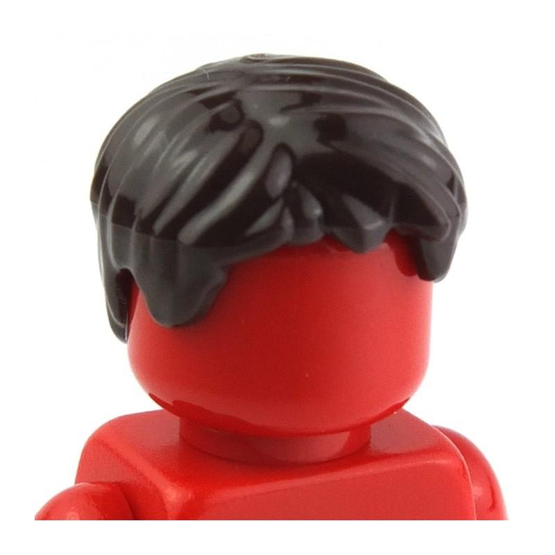 Lego Dark Orange Male Hair Short Tousled w// Side Part Minifig Head Gear NEW
