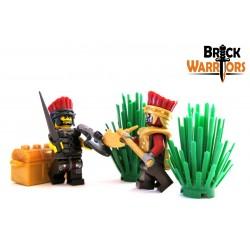 Lego Custom BRICK WARRIORS Plume casque Sea People (Rouge foncé) La Petite Brique