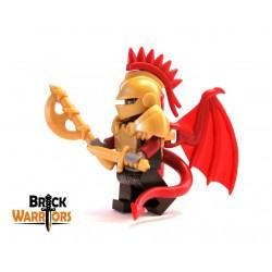 Lego Custom BRICK WARRIORS Plume casque de Joute (Rouge foncé) La Petite Brique