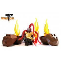 Lego Custom BRICK WARRIORS Queue de Dragon (Rouge foncé) La Petite Brique