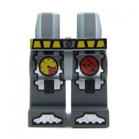 Lego Minifig Jambes de Plongeur - gris foncé (La Petite Brique)
