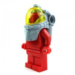 Lego Accessoires Minifig Casque de Plongeur (Light Bluish Gray) et visière (trans yellow) La Petite Brique