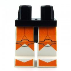 Lego Accessoires Minifig - Jambes - Clone Trooper Orange (Star Wars) La Petite Brique