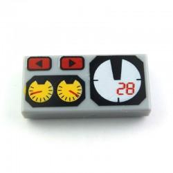 Lego Accessoires Jauges - Tile 1 x 2 (La Petite Brique)