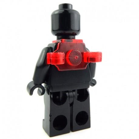 Lego Si-Dan Toys Sac à dos N2C (Rouge Transparent) (La Petite Brique)