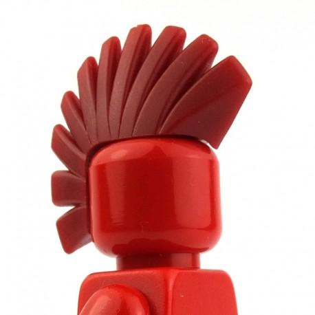 Lego Custom BRICK WARRIORS Crête Punk (Rouge foncé) La Petite Brique