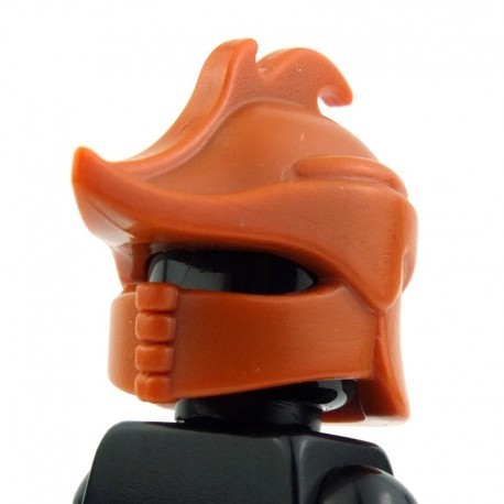 Lego Custom BRICK WARRIORS Casque de Ranger (Burnt Orange) La Petite Brique