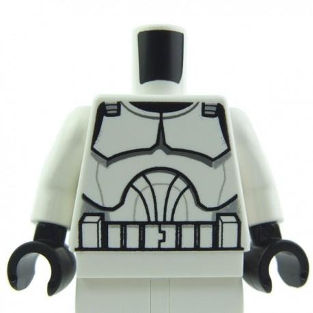 Lego Accessoires Minifig - Torse Star Wars Clone Trooper (La Petite Brique)