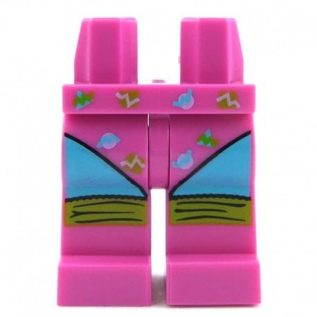 Lego Minifig Jambes - roses foncées avec justaucorps et jambières (La Petite Brique)