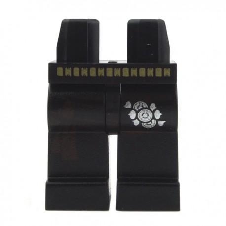 Lego Minifig Jambes - noires avec ceinture et boucles (La Petite Brique)