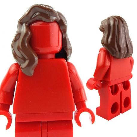 Lego Accessoires Minifig - Cheveux mi-long qui retombe sur l'épaule droite (reddish brown) (La Petite Brique)
