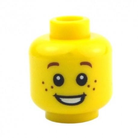 Lego Accessoires Minifig - Tête enfant jaune, taches de rousseur La Petite Brique