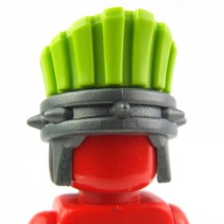 Lego Custom BRICK WARRIORS Plume casque Sea People (Lime Green) La Petite Brique