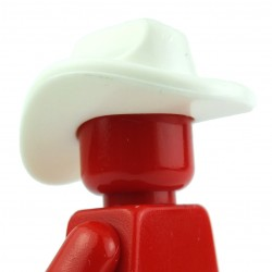 Lego Custom BRICK WARRIORS Chapeau Cowboy (blanc) La Petite Brique