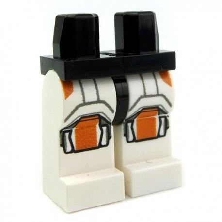 Lego Accessoires Minifig - Jambes - Jambes - Republic Trooper Orange (Star Wars) La Petite Brique