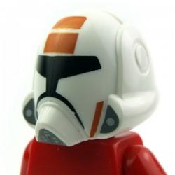 Lego Accessoires Minifig - Casque Republic Trooper Orange (La Petite Brique)
