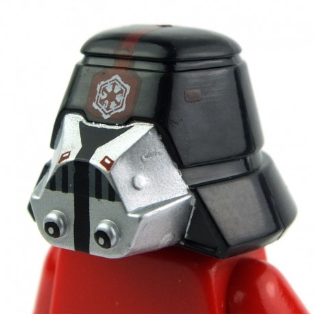 Minifig, Headgear Helmet SW Sith Trooper 01