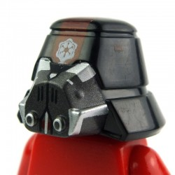 Minifig, Headgear Helmet SW Sith Trooper 02
