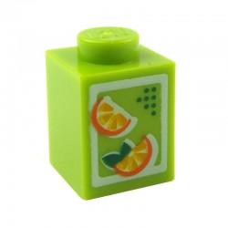 Lego Accessoires Minifig Brique de Jus d'Orange 1 x 1 (La Petite Brique)